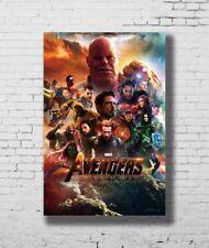 Hot Fabric Poster Avengers Infinity War Movie Marvel Comics Film 40x27inch Z479