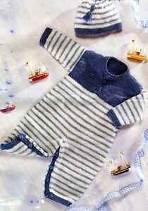 4a2946692517f KNITTING Pattern- Baby all in one playsuit and hat in DK- Fits birth ...