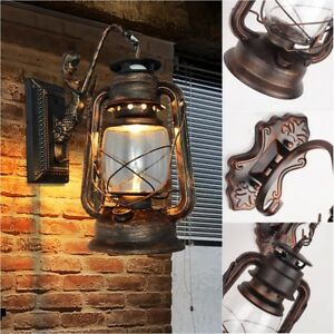 Retro-Classic-Garden-Wall-Lantern-Path-Lamp-Wall-Mount-Outdoor-Lights-Sconce