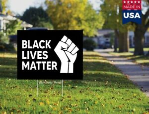 """ALL Lives Matter Yard Sign Double Sided 18/""""h x 24/""""w"""
