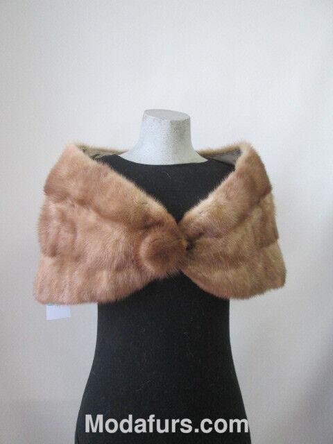 Women's Real Mink Fur Cape Shawl Stole Wrap Cape MINT Sable WEDDING STOLE SALE