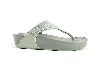Mujer señoras de Baja Cuña Deportes postura Gimnasio Fit flop Caminar Sandalias Zapatos Talla