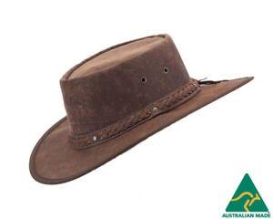 Image is loading Barmah-Kangaroo-Leather-Australian-Outback-Hat-Made-in- 210b9487c718