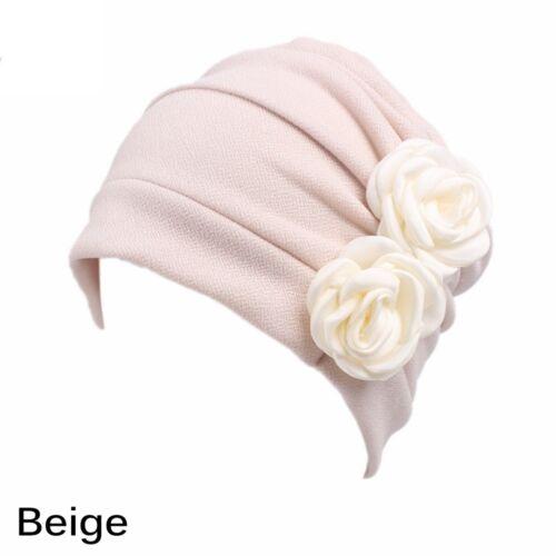 Cover Head Scarves  Headwear   Muslim Turban Beanie Cap  Chemo Hat  Flower