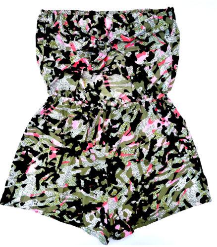 Femmes Bandeau De Plage Robe S M L XL Camouflage Overall d/'été Jumpsuit Primark