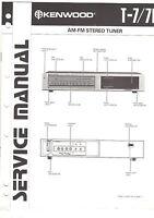 Original Factory Kenwood Service Manual t-7 7L stereo tuner receiver Repair book