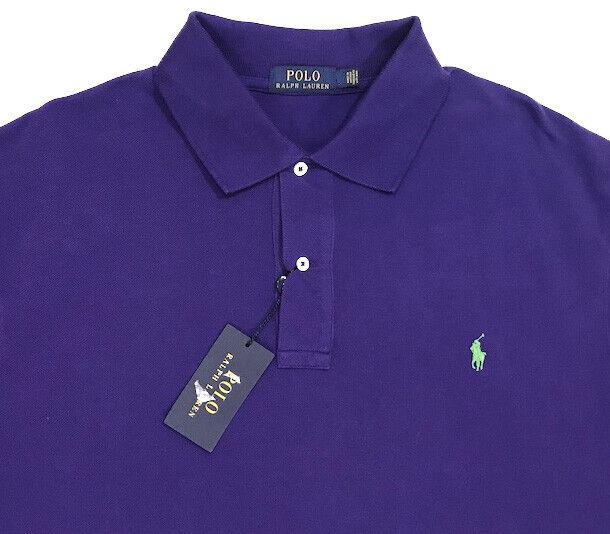 Men's POLO RALPH LAUREN Purple Mesh POLO Shirt 2XLT 2XT 2LT Tall NWT NEW WoW