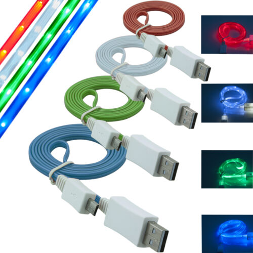 C.d.R LUCE LED 2.0 Micro USB Cavo dati e ricarica Dati Cavo Carica per Lg