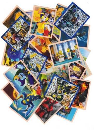 Lego nexo Knights 50 cromos Mix ninguna doble incluyendo plata sticker