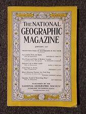 National Geographic Magazine January 1937 London,  Bible Lands, Field Dogs