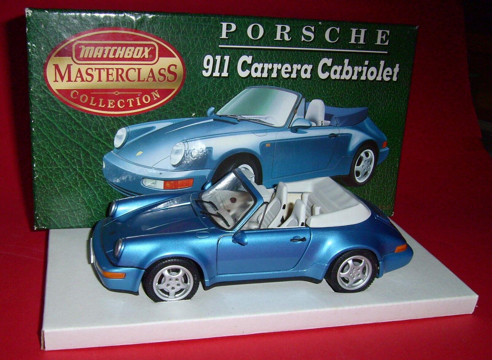 Matchbox 1 24 Masterclass Collection Porsche 911 Carrera Cabriolet OVP  | Lebendige Form