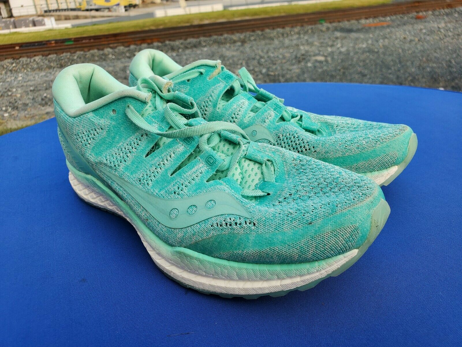 Saucony Women's Freedom ISO 2 Aqua Turquoise Chaussures De Course S10440-35 Taille 9 m