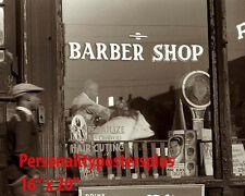 "Barber~Hair Salon~Barber~Photo~Decor~Black Int~Stylist~Poster~1940's~16"" x 20"""