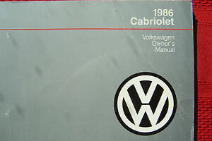 1986 vw cabriolet owners manual parts service original new ebay rh ebay com 1986 VW Cabriolet Interiors Volvo Cars