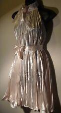 Mini Dress Fits S M L Pleated Sundress Racer Back Light Pink Sash Belt 116 NWT