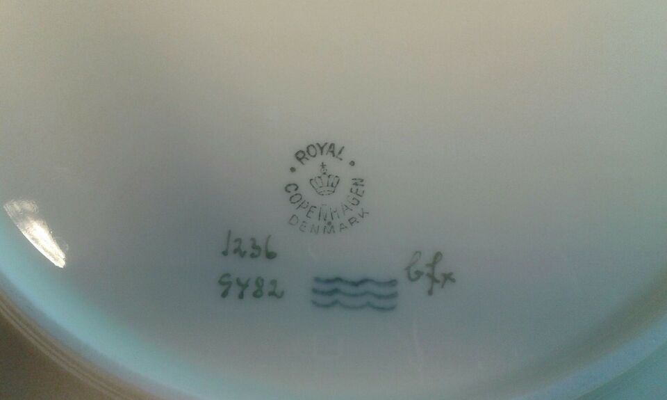 Porcelæn, Fad, Royal Copenhagen Broager