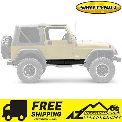 Smittybilt XRC Armor Rock Sliders w// Step 76-86 Jeep CJ7 76865 Black