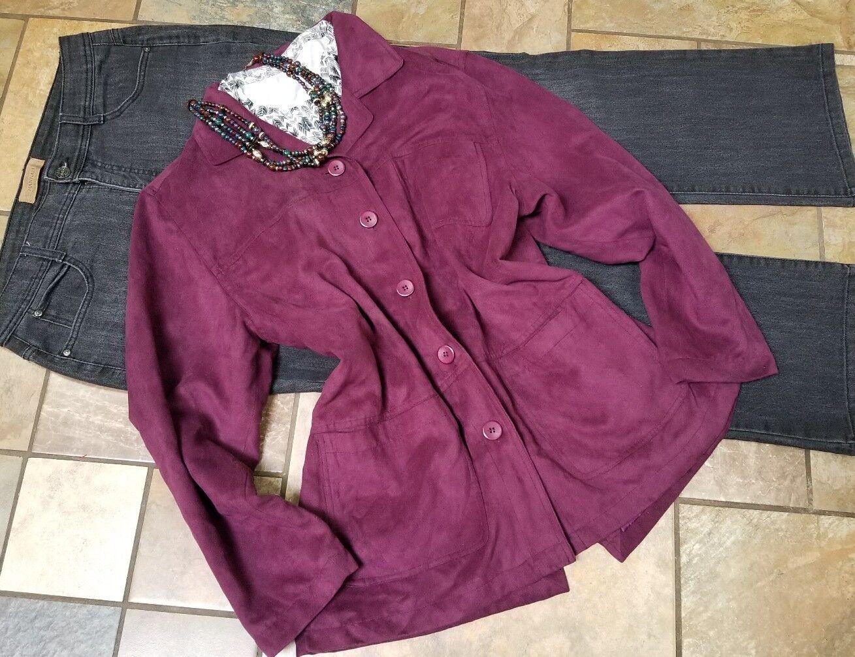 Lote de ropa para mujer traje sz 14 jeans, chaqueta lg, collar, 4 piezas