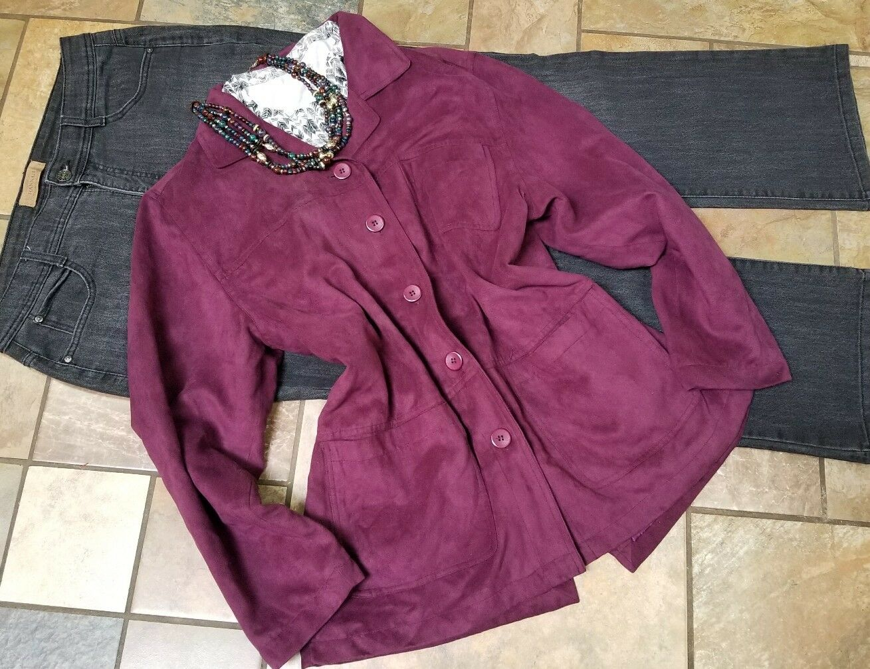 Damenbekleidung viel Outfit Sz 14 Jeans, lg Hemdjacke, Halskette, 4pc