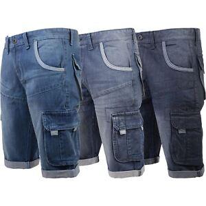 59f4f62815 Image is loading New-Mens-Denim-Cargo-Combat-Shorts-Jeans-Crosshatch-