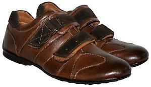 Marrón para Hombre Correa de Cierre Táctil Inteligente/informal zapato en talla 6/39