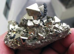 PYRITE-BRILLIANT-OCTAHEDRAL-CRYSTALS-and-SPHALERITES-from-PERU-GORGEOUS-PIECE