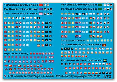 1/72 Decals für Kanadische Divisionszeichen 2001