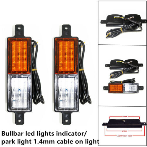 2xFront Indicator Park Led Bull Bar Light Lamp Universal Car Truck Yacht Trailer