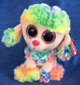 60657eac97c w-f-l Ty Beanie Boos Rainbow Boo ´s Dog Poodle Glubschi 5 7 8in ...