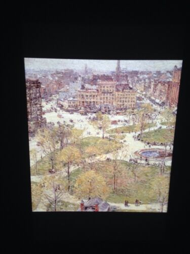 "Childe Hassam /""Union Square In Spring 1896/"" Impressionism 35mm Art Slide"