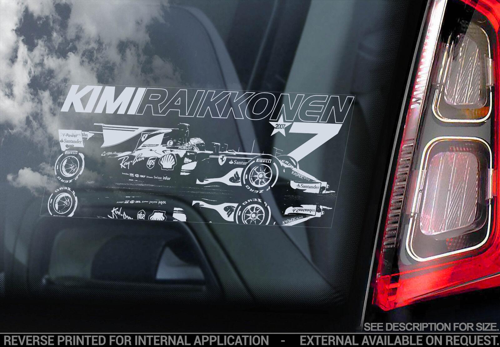 Formula 1 F1 Decal Ferrari Car Window Sticker V04 NEW Sebastian Vettel #7