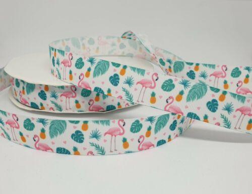 Ripsband Flamingos 22mm