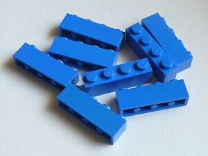 Lego-8-briques-bleues-8-blue-bricks-1-x-4