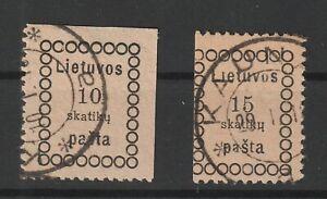 Lithuania / Litauen 1918 Mi # 1/2 vf used
