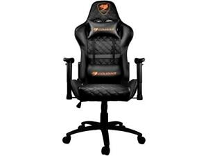 Swell Details About Cougar Armor One Black Gaming Chair 180O Reclining Inzonedesignstudio Interior Chair Design Inzonedesignstudiocom