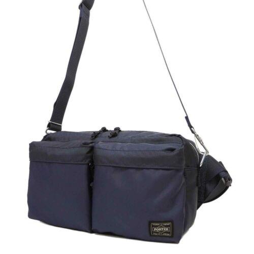 New Yoshida PORTER PORTER FORCE 2WAY WAIST BAG 855-07418 Navy Blue From JP