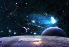 Set Of 2 Space Stars Planets Solar System Picture Poster Wall Art Print New