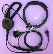 Military Tactical Throat Mic Headset/Earpiece Motorola Talkabout Distance DPS