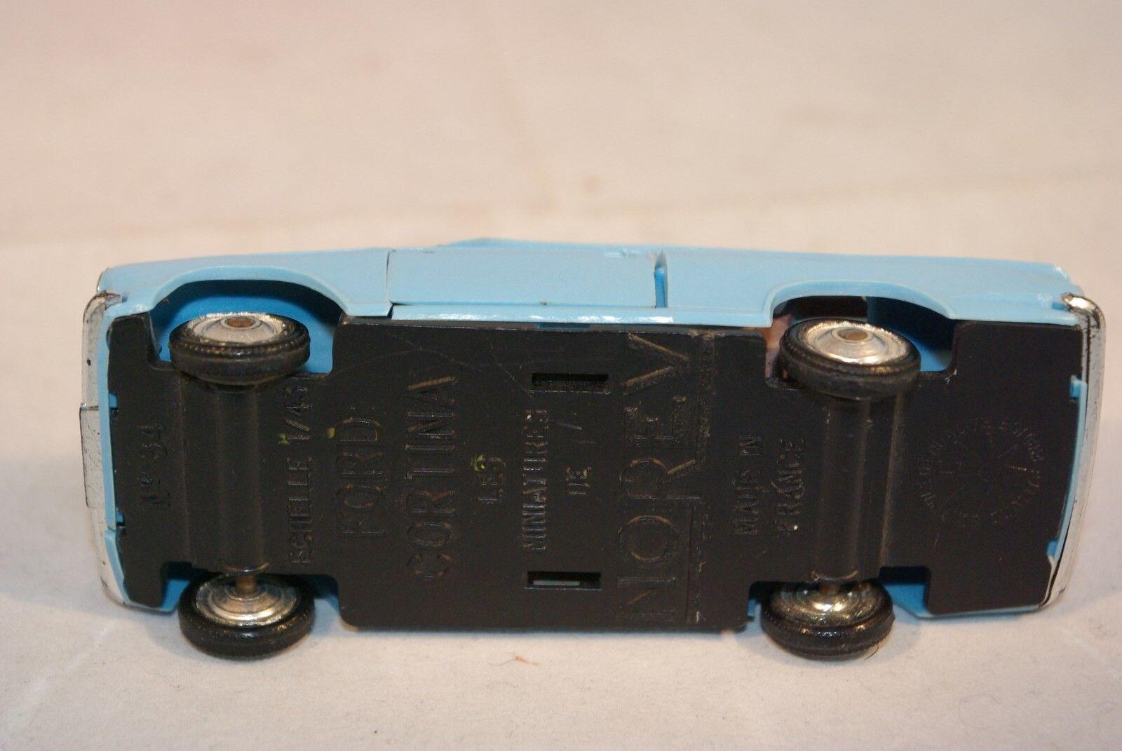 NOREV PLASTIC 84 FORD CORTINA CORTINA CORTINA LIGHT blueE NEAR MINT RARE SELTEN RARO   41a1ad