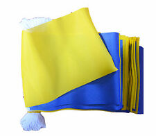 BLUE & AND YELLOW 9 METRE BUNTING 30 FLAGS flag