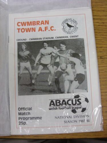 25111987 Cwmbran Town v Swansea City Welsh Cup . Good condition unless previ