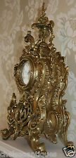 Louis XV FRENCH ANTIQUE CLOCK Gilt Bronze MANTEL 51cm Large Ormolu Ornate/Rococo