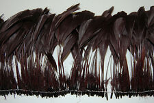 """30 Pcs BURNT COQUE FRINGE - BROWN 8-12"""" Tall Feathers Pad"""