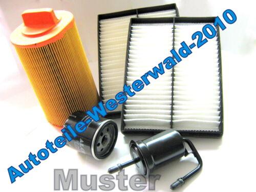 Ölfilter Pollenfilter Luftfilter Chevrolet Aveo 1,4 74kw 4 Zündkerzen