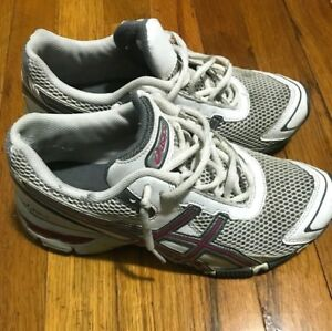 Asics-Gel-Running-Shoes-Sneakers-White-Pink-Womens-Size-7-5-S976Y