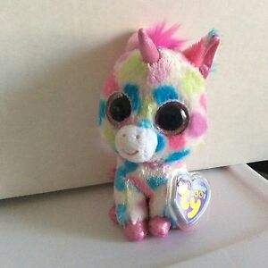 "Ty Beanie Boo SKYLAR the Unicorn 6"" Justice Exclusive MWMT"
