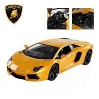 1:14 Lamborghini Rc Car Gravity Sensor Dangling Open Doors Remote Control Yellow