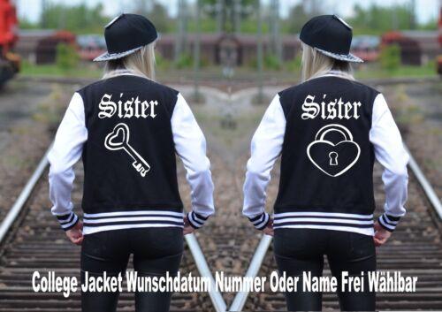 partenaire Look 2 Pièce blogueurs Instagram College Jacket avec Sister Sister Motif