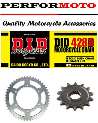 Kymco 125 Pulsar 2001 DID Gold Heavy Duty Chain and Sprocket Kit