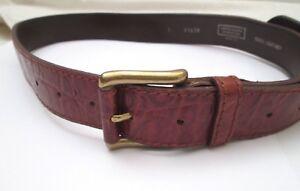 AUTHENTIQUE-ceinture-UNITED-COLORS-OF-BENETTON-cuir-vintage